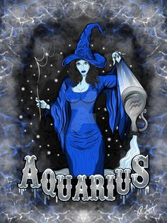 The Water Bearer - Aquarius Zodiac Spirit by rlopezdesigns