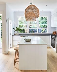 Your kitchen needs to be one of the cleanest areas in your house.(READ MORE) The beauty of marble is how it assumes the interior style in which its integrated; Home, Interior Styling, Kitchen Benches, Kitchen Design, Kitchen, Interior Architect, Interior Architecture, Home Renovation, Coastal Kitchen