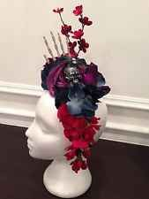 Day Of The Dead Costume Headpiece - skull  Dia De Los Muertos - Halloween  Glamorous Halloween Costume