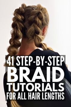 41 Gorgeous Braided Hairstyles for Every Occasion and Hair Length If you're looking for stylish hairstyles for short, medium, or long hair, we've curated 41 step-by-step braided hairstyles for all hair lengths! Up Dos For Medium Hair, Easy Hairstyles For Medium Hair, Braided Hairstyles Tutorials, Braids For Long Hair, Medium Hair Styles, Curly Hair Styles, Stylish Hairstyles, School Hairstyles, Hair Medium