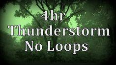 Thunderstorm and Rain Sounds - Heavy Thunder & lightning Strike Ambience…