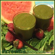 Watermelon-Strawberry Green Smoothie