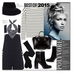 """""""Best of 2015 - Overalls -"""" by naomimjc ❤ liked on Polyvore featuring Forever 21, Miss Selfridge, J.Crew, Maison Michel and Givenchy"""