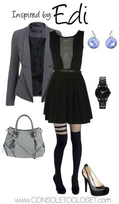 Console to Closet - outfit inspired by Edi (Mass Effect ♥ Nerd Fashion, Fandom Fashion, Edi Mass Effect, Rock Star Outfit, Character Inspired Outfits, Casual Cosplay, Kinds Of Clothes, Polyvore Fashion, Miss Selfridge