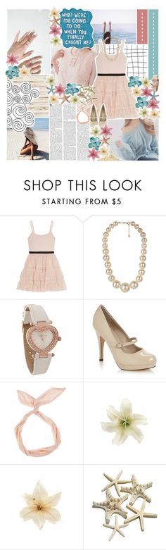"""""""//the clock tick & think of you♥"""" by tropical-songwriter ❤ liked on Polyvore featuring Nicole Miller, Alice + Olivia, Forever 21, Red Herring, Call it SPRING, Clips, Sharpie and melsunicorns"""