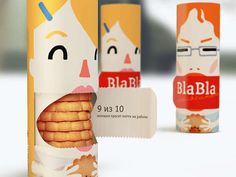 Bla-Bla Cookies Packaging Provides a Snack to Stop the Gossip #packaging #kids trendhunter.com