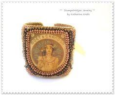 °° Couture de Belle Èpoque °°  mit einer Illustration von Alfons Mucha.  Beadwork-feine Perlenarbeit und Unikat.    Spektakulär,extravagant,opulent...