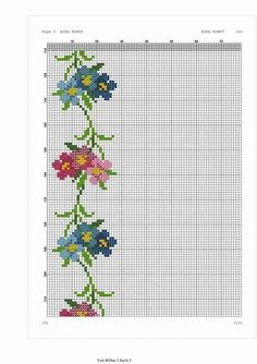 This Pin was discovered by Öze Cross Stitch Rose, Cross Stitch Borders, Cross Stitch Flowers, Cross Stitch Kits, Cross Stitching, Cross Stitch Embroidery, Cross Stitch Patterns, Embroidery Patterns Free, Embroidery Designs