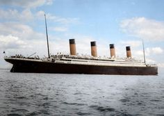 """The """"Titanic in Color"""" Project....Russian photo editor Anton Logvynenko has redefined the old photos of Titanic into refreshed ones. Titanic was the biggest ship sailed back in May of 1912. With the big launch, the media covered the launch of the ship and the ship was captured in many photographs."""