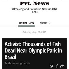 #Brazil #OlympicPark #Fish Read Pvt. News  http://ift.tt/1CeNjph #PvtNews Or Google #PvtNews