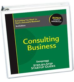 The experts at Entrepreneur provide a two-part guide to success. First, capitalize on your talents and learn how help others achieve their business goals as a consultant. Then, master the fundamentals of business startup including defining your business structure, funding, staffing and more.