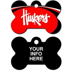Customized Nebraska Cornhuskers NCAA Pet Tag - Bone Shape ** Learn more by visiting the image link. (This is an affiliate link) #DogIDTags