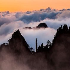 #ShangriLaDestinations: The Huangshan Mountain is renowned for its magnificent scenery made up of many granite peaks and rocks emerging out of a sea of clouds. Just a short 3-hour drive from our Shangri-La Hotel, #Hefei, you'll arrive this #UNESCO World Heritage Site. #Hefei #China