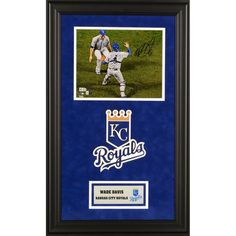 "Wade Davis Kansas City Royals Fanatics Authentic 2015 MLB World Series Champions Deluxe Framed Autographed 8"" x 10"" 2015 World Series Last Out Photograph"