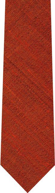 Burnt/Orange Thai Rough Silk Tie #7
