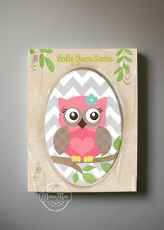 owl decor for baby room | Owl Decor Girls wall art OWL canvas art Baby Nursery by MuralMAX, $51 ...