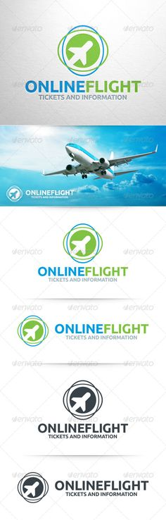 Buy Online Flight Logo Template by LiveAtTheBBQ on GraphicRiver. The Online Flight Logo Template A modern and professional logo template for travel agencies and holiday related busin. Logo Design Template, Logo Templates, Flight Logo, Logo Online, Best Places In Europe, Animal Symbolism, Travel Logo, Symbol Logo, Professional Logo