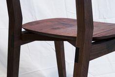 Modern walnut flip-milled chair