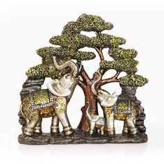Elephant Family Figurine