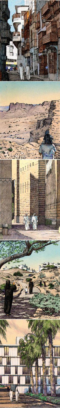 SOM, Chicago.  KA-CARE, Saudi Arabia. Storyboard images rendered by Bruce Bondy, Bondy Studio