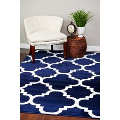 Persian Rugs Moroccan Trellis Abstract Rug (5'2 x 7'2)