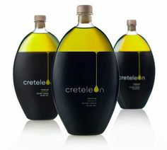 Check out this beautiful olive shaped olive oil bottle, see the design and a few other examples where the olive shape is used in the bottle design. Olive Oil Packaging, Cool Packaging, Bottle Packaging, Brand Packaging, Design Packaging, Label Design, Branding Design, Package Design, Illustration Inspiration