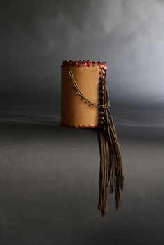 leather. fringe. beads.  handcrafted purse by SuSu