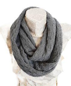 Dark Grey Infinity Scarf, Antibacterial Yarn, Knitting Lightweight Soft , Circle Sacarf, Handknit, Men and Women Accessories, $29.90