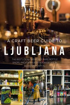 Craft beer in Slovenia and its capital Ljubljana is a major phenomenon with dozens of microbreweries, beer bars, and even a beer-themed escape room! We've got a local's guide to the best craft beer in Ljubljana for you! | ljubljana travel tips, slovenia t