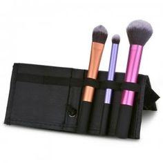 Dresslink - Dresslink 3 PCS Makeup Cosmetic Brushes Set With Case - AdoreWe.com