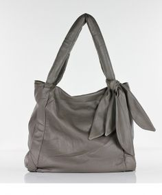 simple grey with a tie on the side- L.Credi---just got a purse from this line and realllllly like it!