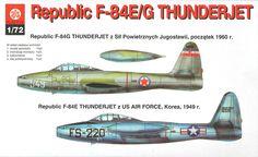 Republic F-84 E/G THUNDERJET - 1/72 tylko-polskie.pl