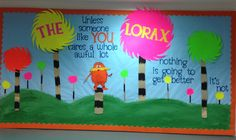 Lorax - Dr.Seuss billeting board in library