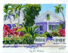 Art Sketch- Key West Hideaway | Paintings of France, Italy and Beyond