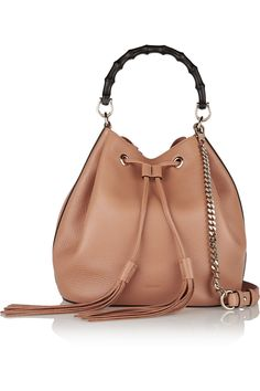 Gucci|Linea C textured-leather bucket bag|NET-A-PORTER.COM