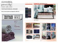 Textiles para el hogar-MARZO-ABRIL#2016 #AlhambraInternacional, #AdireCollection, #textilesparaelhogar