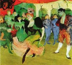 the Moulin Rouge by Toulouse-Lautrec