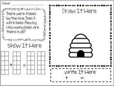 Kindergarten/1st Math Story Problem Freebie