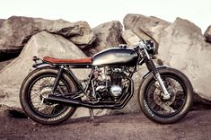 1975 Honda CB400F brat by Salty Speed Co.  Cool bike and I love the high contrast photography.