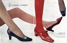 Charles Jourdan (Shoes) 1966 Models Agadir Açores Grillon..Photo Aldin Repetto Tights