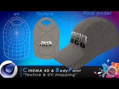 TUTORIAL Cinema 4D & BodyPaint - Texture & UV Mapping - YouTube