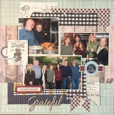 Thanksgiving layout using Authentique Homestead collection
