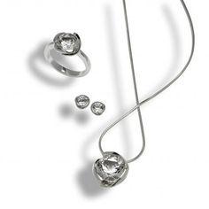 Bergkristall aus Schweizer Fundstellen, in 925 Sterling Silber gefasst und mit einer Rhodium Schicht veredelt. Gold, Swiss Guard, Stud Earring, Crystals, Necklaces, Ring, Silver, Yellow
