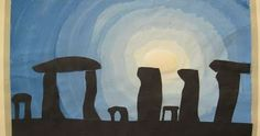 Graders study prehistory in Social Studies. Last week I showed them images of Stonehenge and discussed the idea of prehistoric sculptur. Stonehenge, Stone Age Ks2, Ancient History, Art History, Pop Up Karten, 6th Grade Art, Ecole Art, We Will Rock You, Mystery Of History