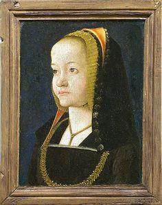 Jean PERREAL Connu à Lyon à partir de 1483 - Lyon, 1530 Portrait de femme