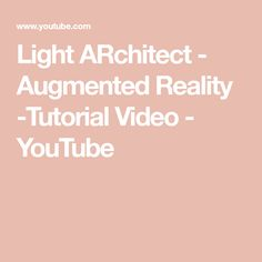 Learn how to use the Light ARchitect app to virtually place light fixtures directly in your space. Lighting Solutions, Augmented Reality, Science And Technology, Youtube, Youtubers, Youtube Movies