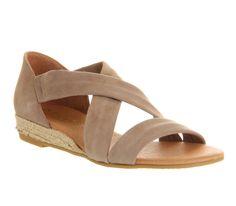 Office Hallie Cross Strap Espadrille Camel Suede - Sandals