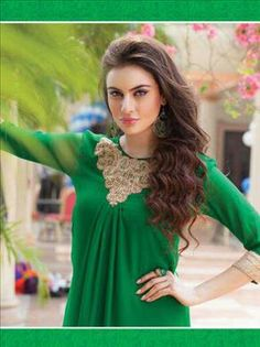 take your ordinary look to an most desired outstanding took with us. Beautiful Green color kurti only at xeroshop.com