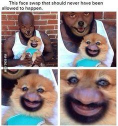 Horrifying face swap