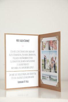 Einladungskarten - 10 Danksagungskarten Hochzeit - DIY - H&P - ein Designerstück von reflect-photographie bei DaWanda